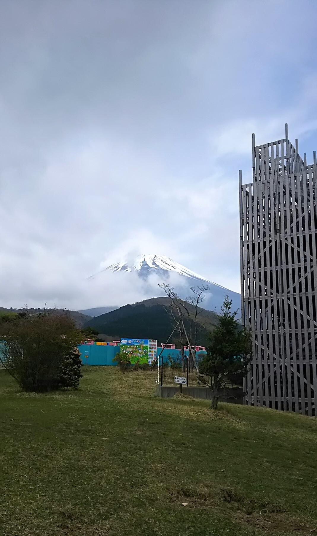 富士山と霧
